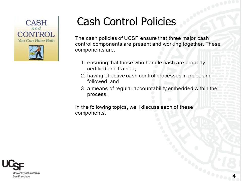 Cash Control Policies