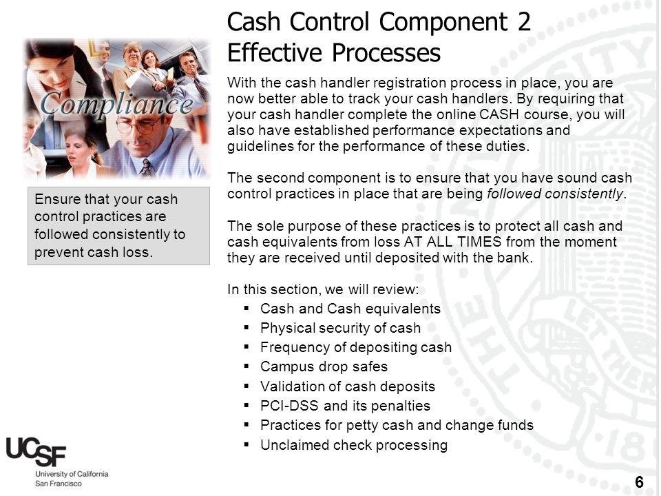 Cash Control Component 2 Effective Processes
