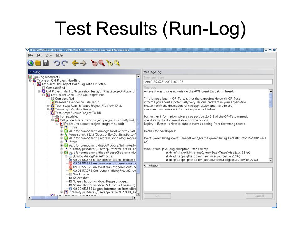 Test Results (Run-Log)