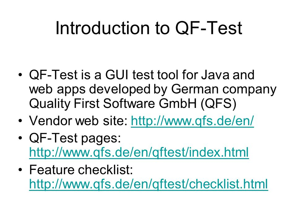 Introduction to QF-Test