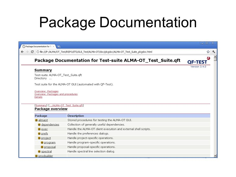 Package Documentation