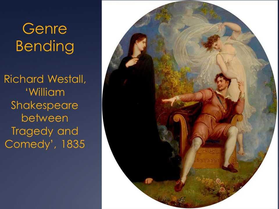 Genre Bending Richard Westall, 'William Shakespeare between Tragedy and Comedy', 1835