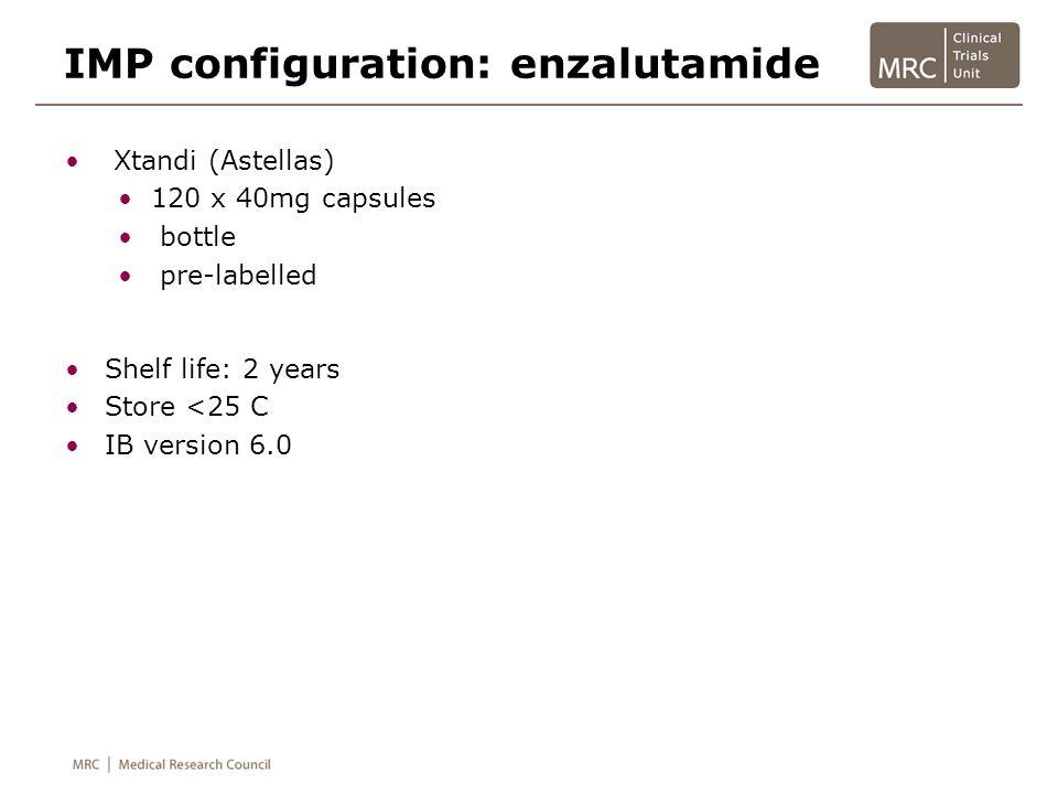 IMP configuration: enzalutamide