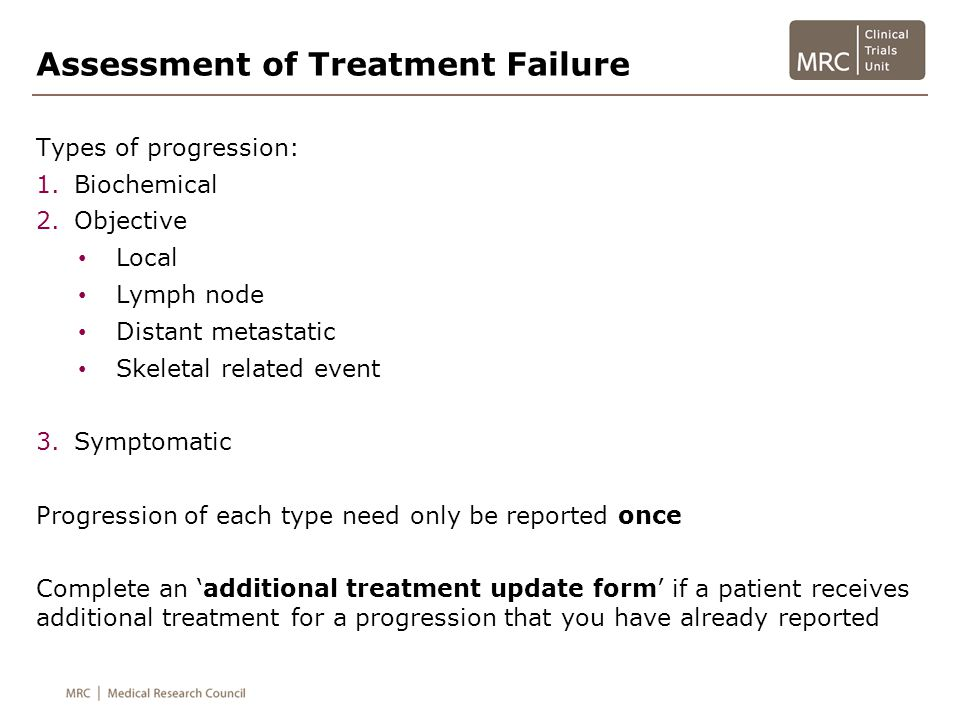Assessment of Treatment Failure