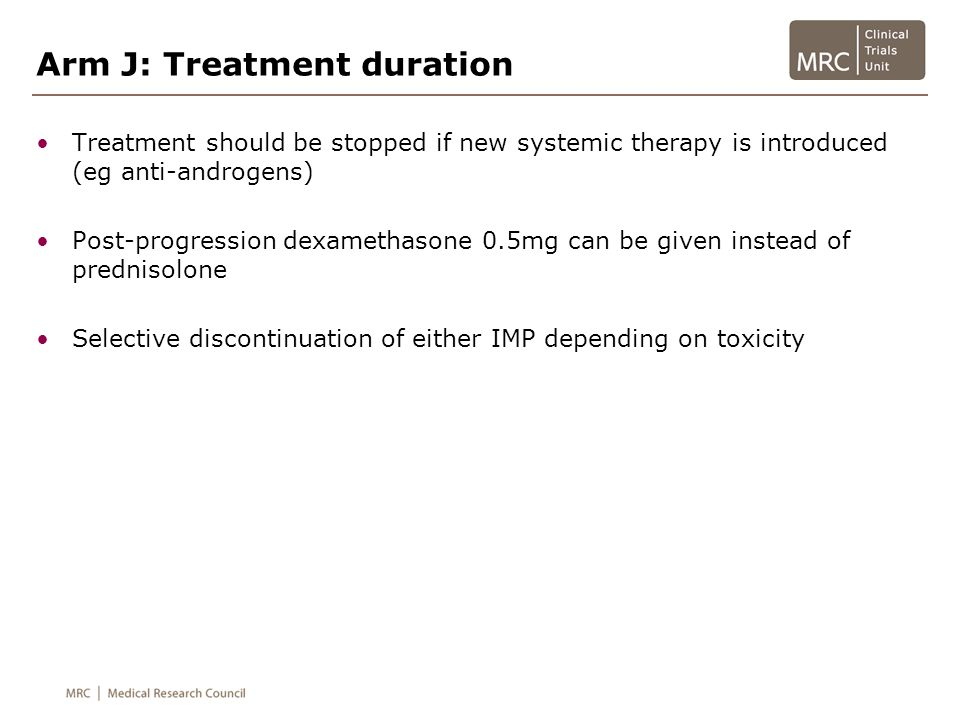 Arm J: Treatment duration