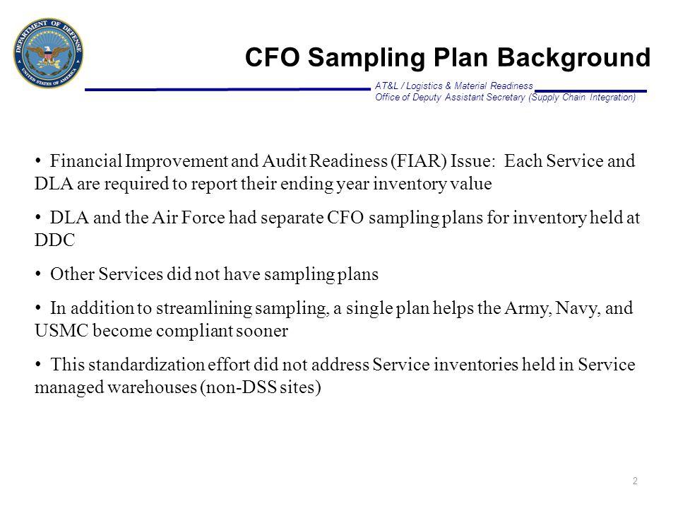 CFO Sampling Plan Background