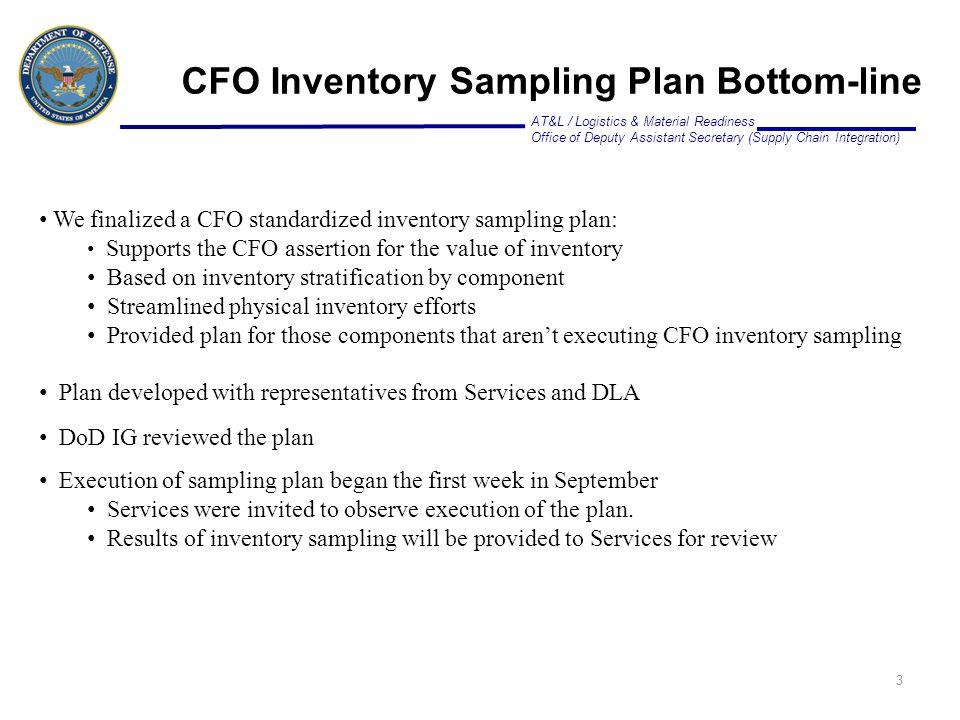 CFO Inventory Sampling Plan Bottom-line