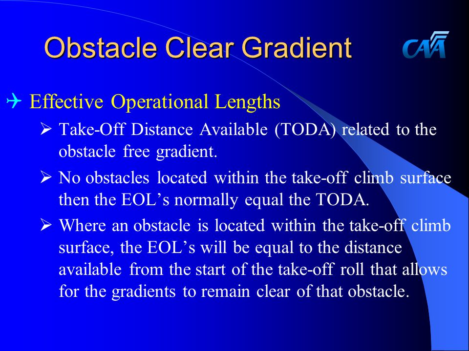 Obstacle Clear Gradient
