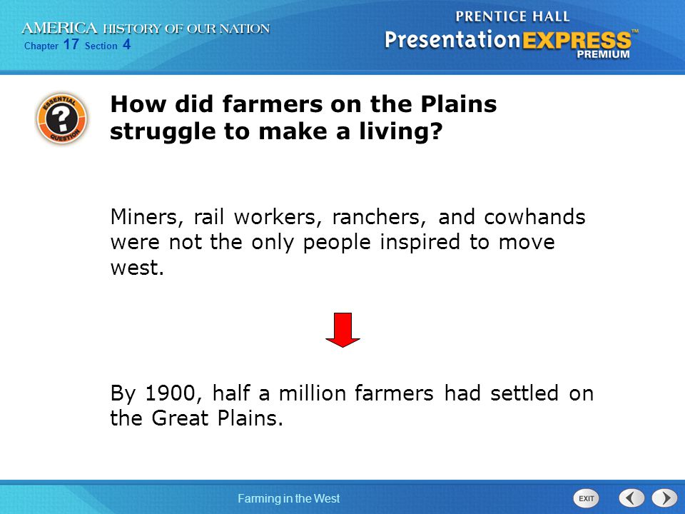 How did farmers on the Plains struggle to make a living