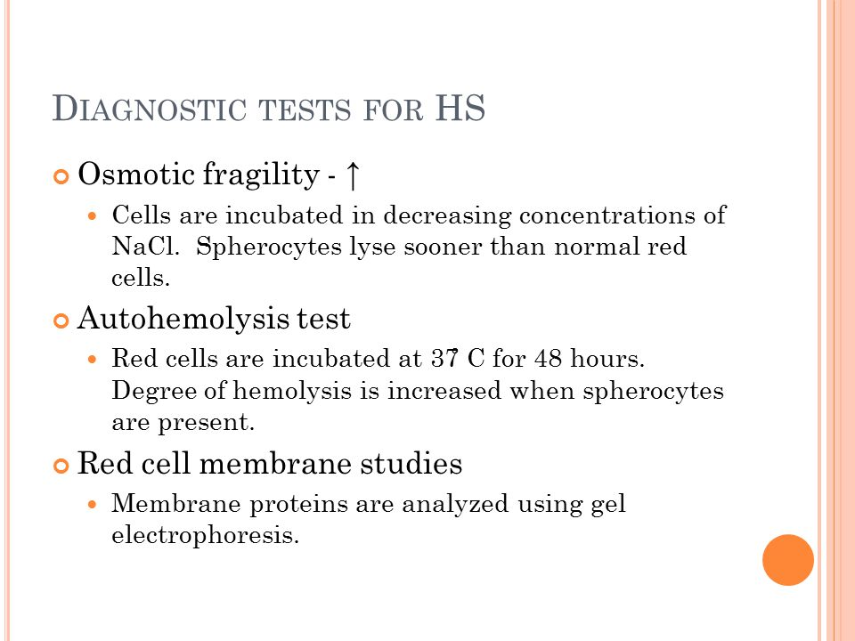 Diagnostic tests for HS