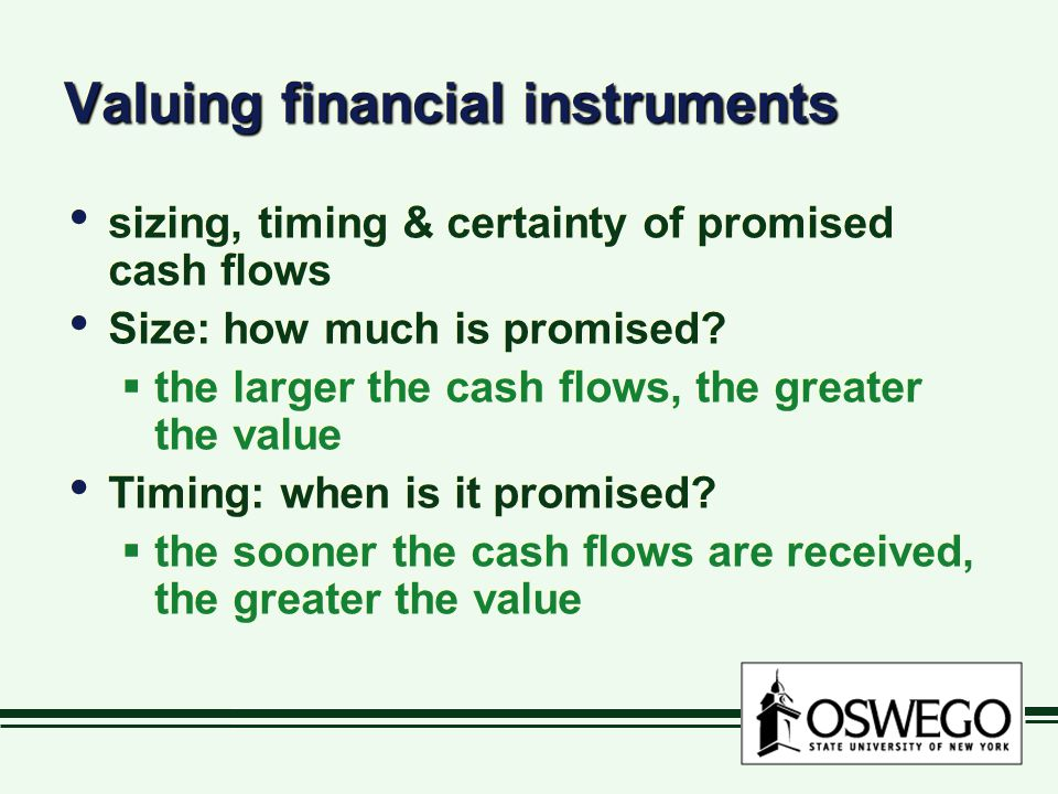 Valuing financial instruments