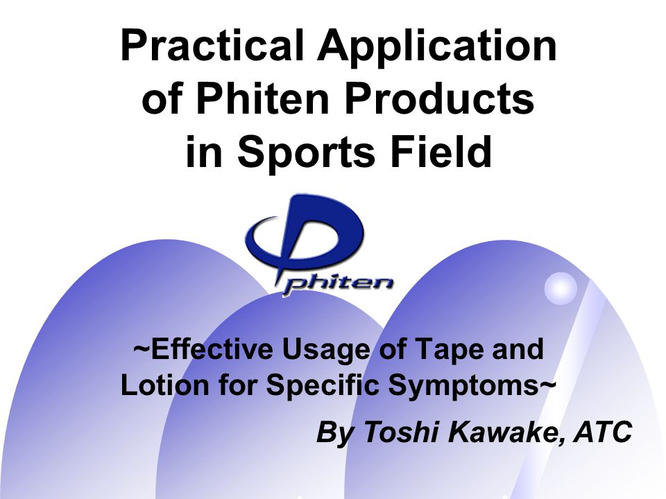 Practical Application of Phiten Products in Sports Field