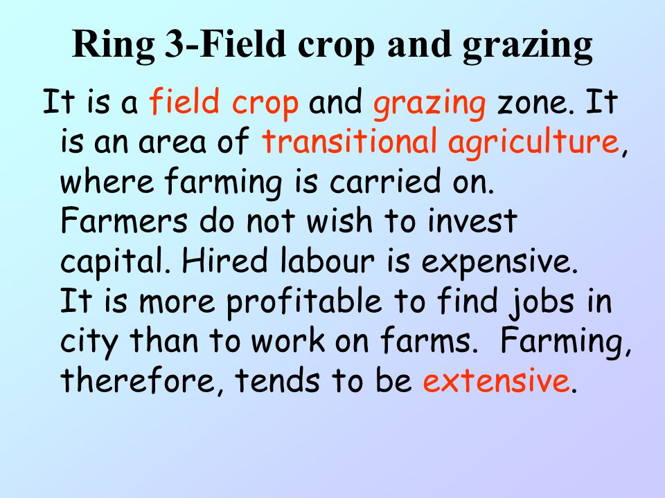 Ring 3-Field crop and grazing