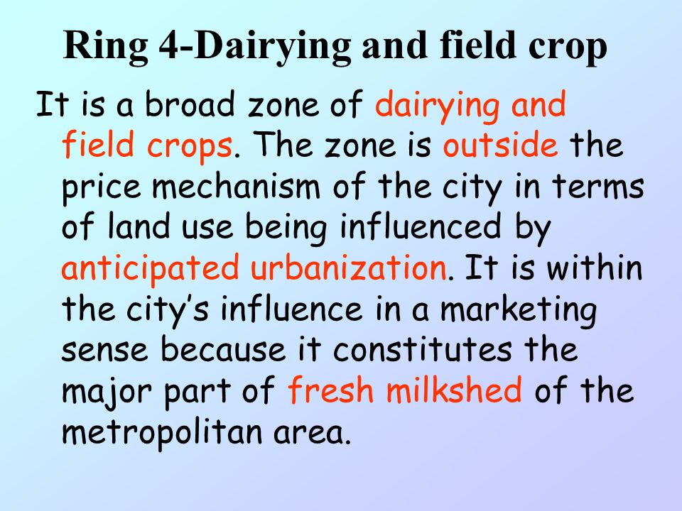 Ring 4-Dairying and field crop