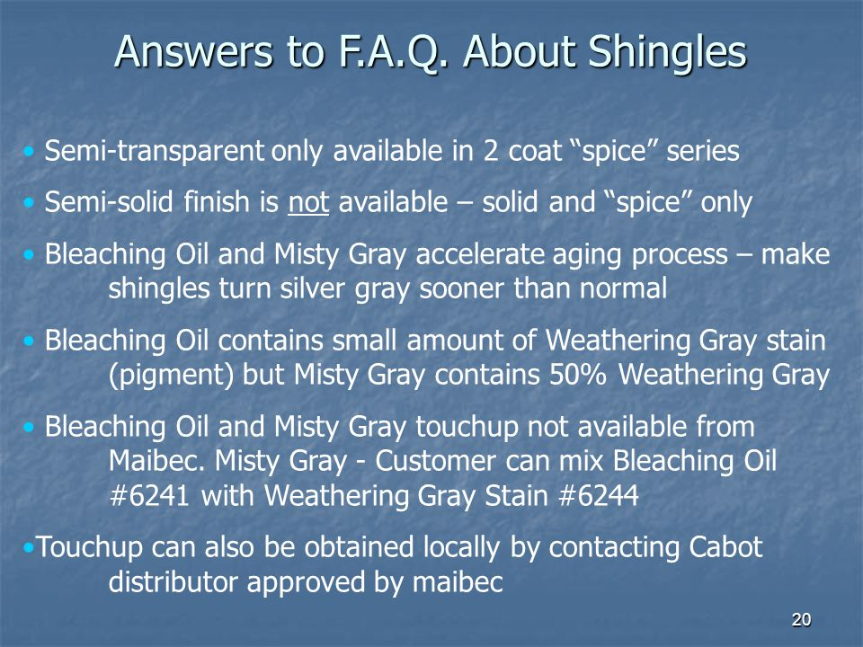 Answers to F.A.Q. About Shingles