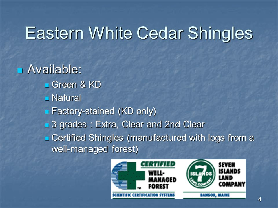 Eastern White Cedar Shingles