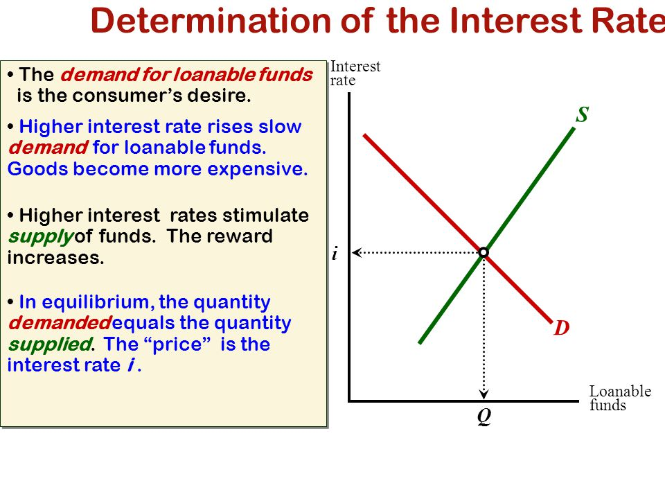 Determination of the Interest Rate