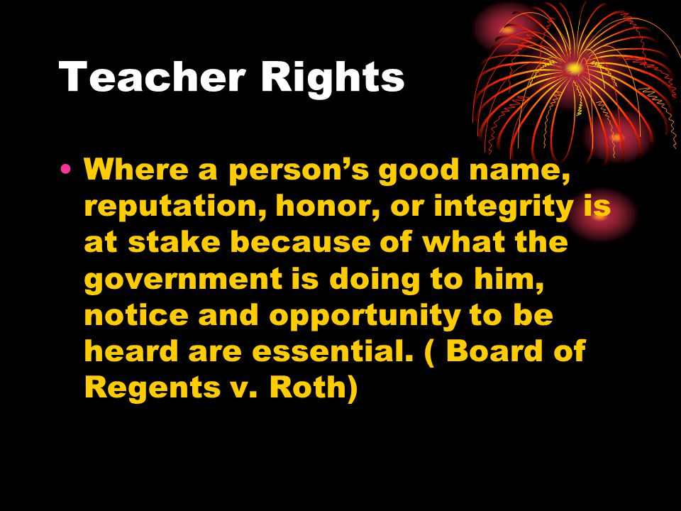 Teacher Rights