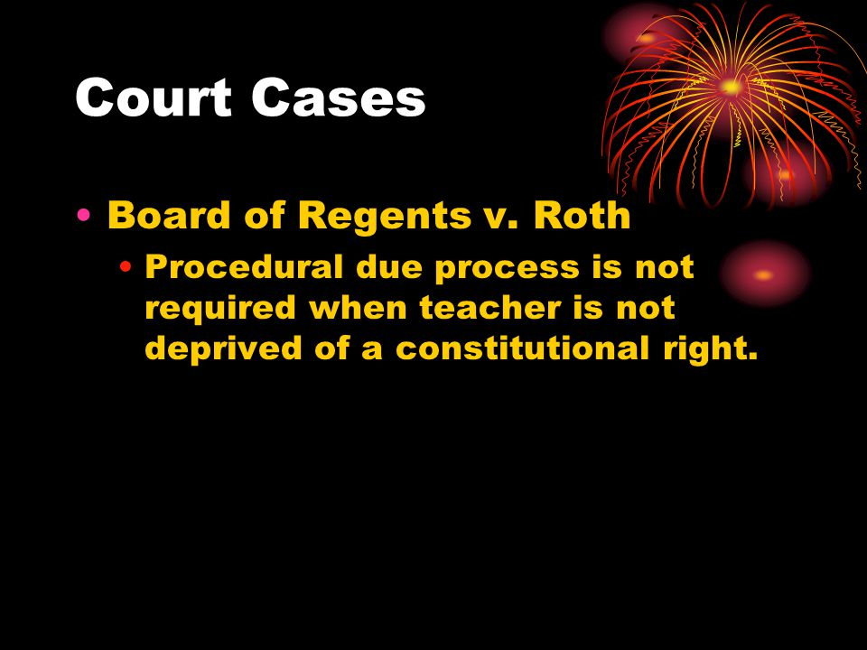 Court Cases Board of Regents v. Roth