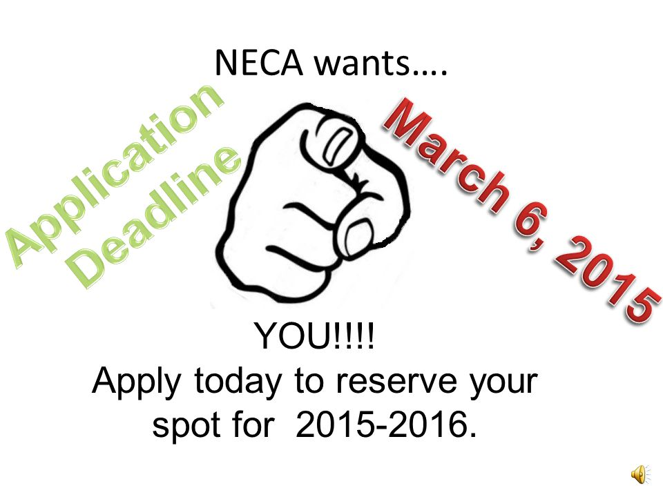 Apply today to reserve your spot for 2015-2016.