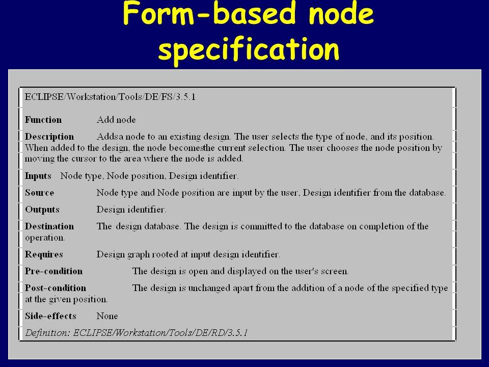 Form-based node specification