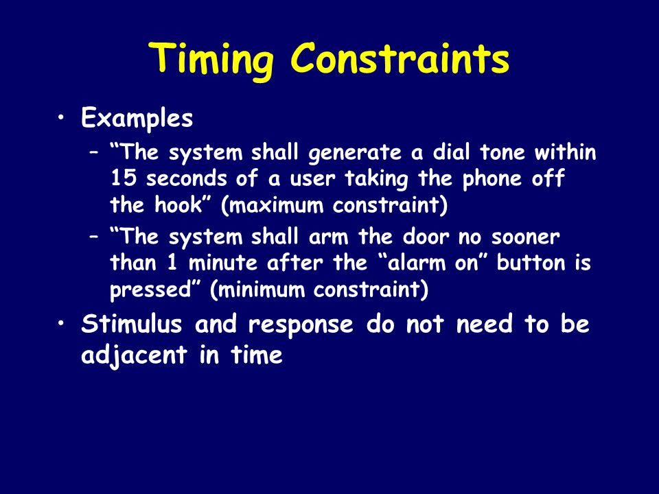 Timing Constraints Examples