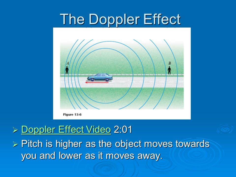 The Doppler Effect Doppler Effect Video 2:01