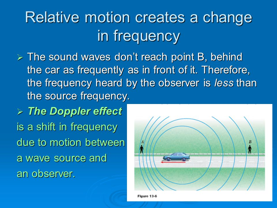 Relative motion creates a change in frequency