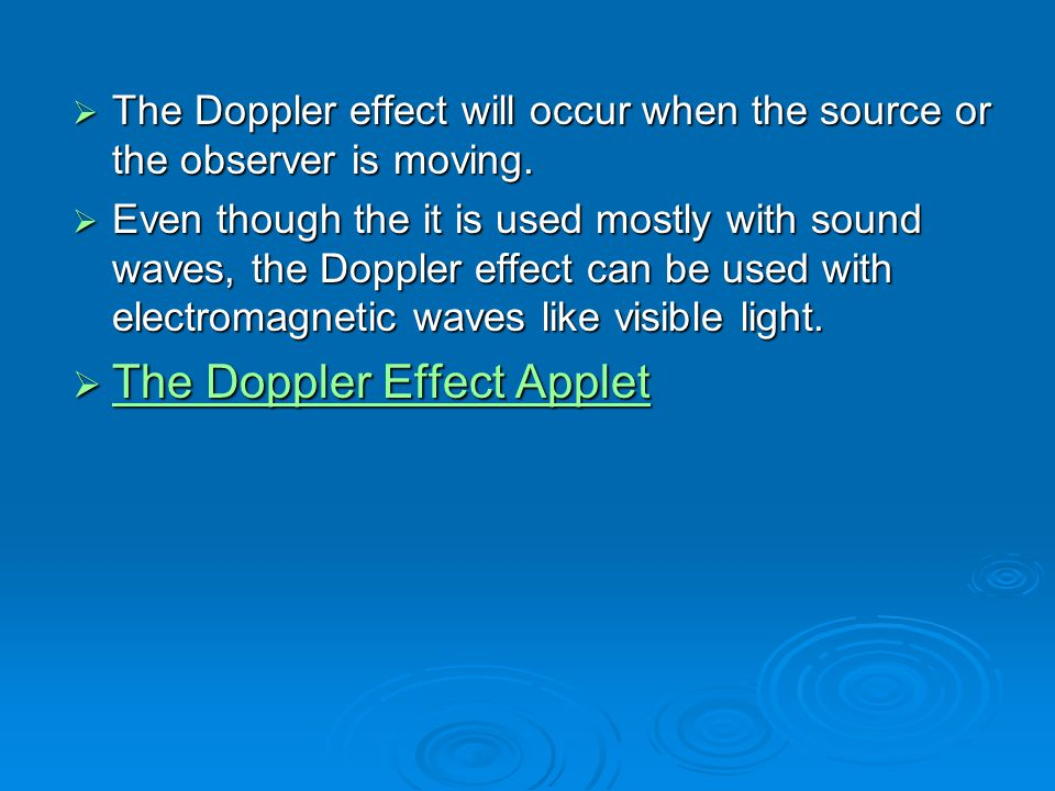 The Doppler Effect Applet