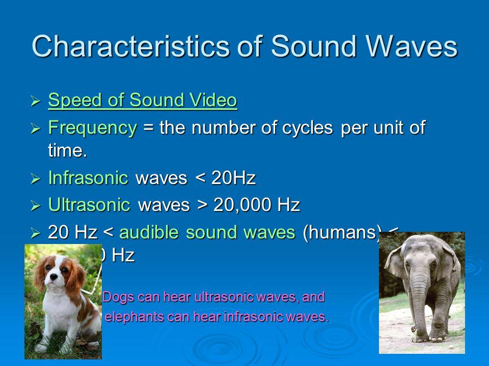 Characteristics of Sound Waves
