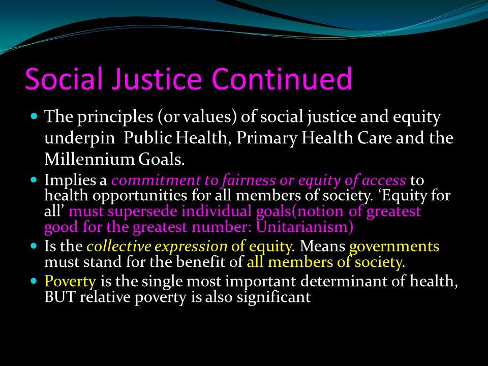 Social Justice Continued