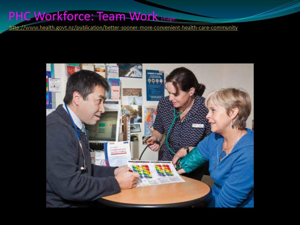 PHC Workforce: Team Work: Image: http://www. health. govt