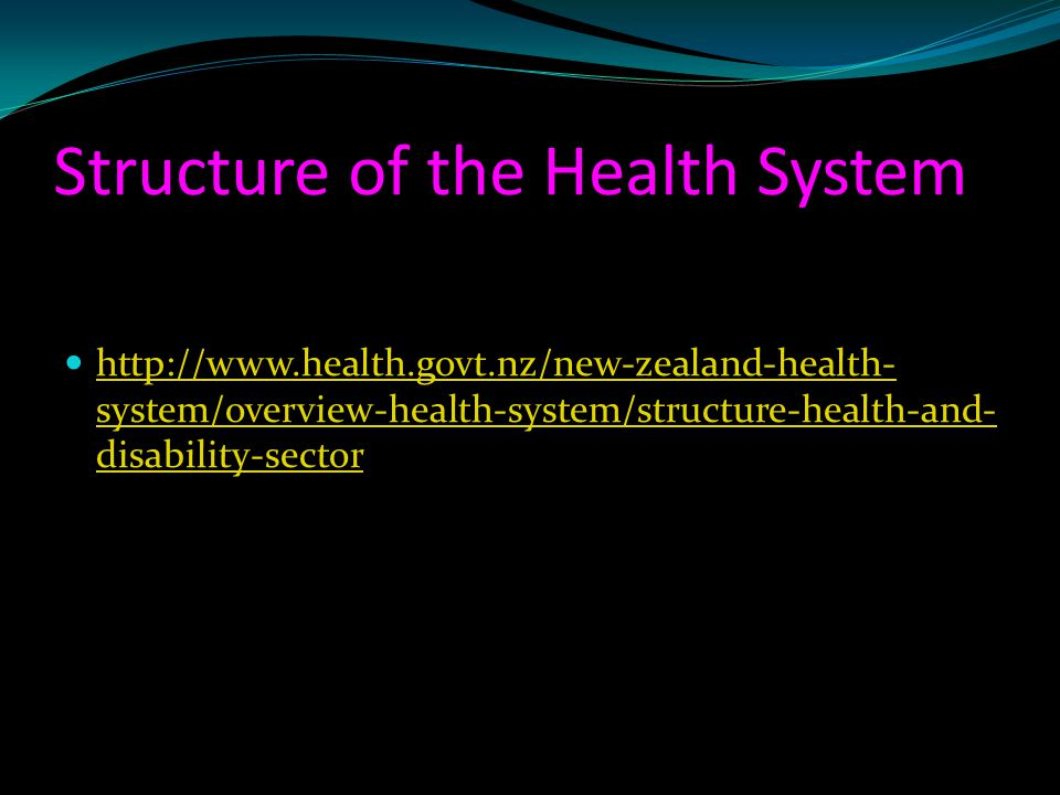 Structure of the Health System