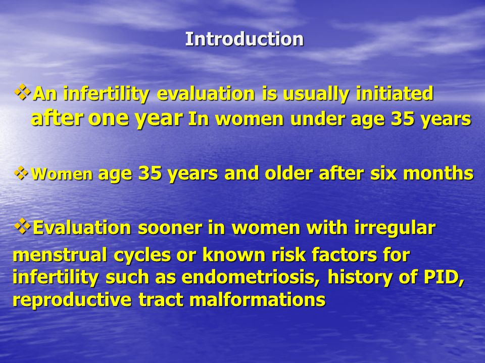 Evaluation sooner in women with irregular