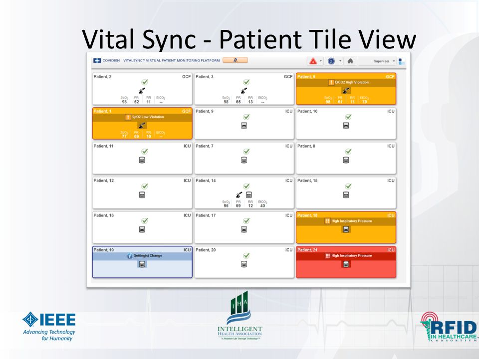 Vital Sync - Patient Tile View