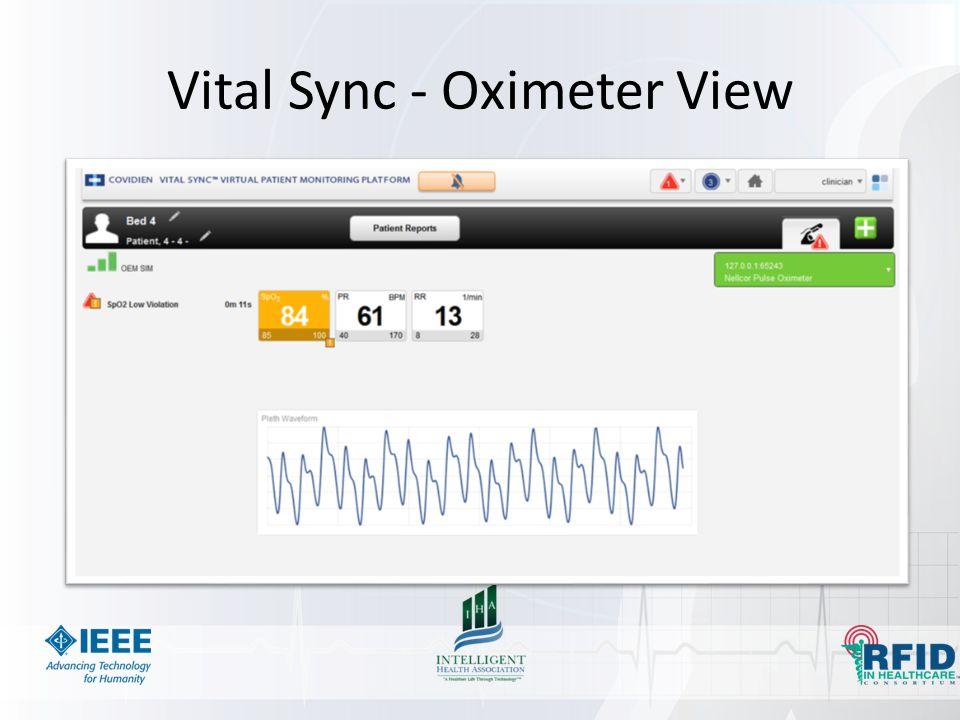 Vital Sync - Oximeter View