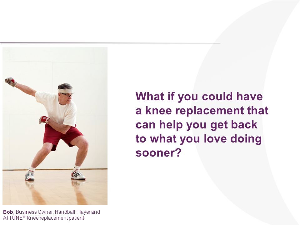 What if you could have a knee replacement that can help you get back to what you love doing sooner