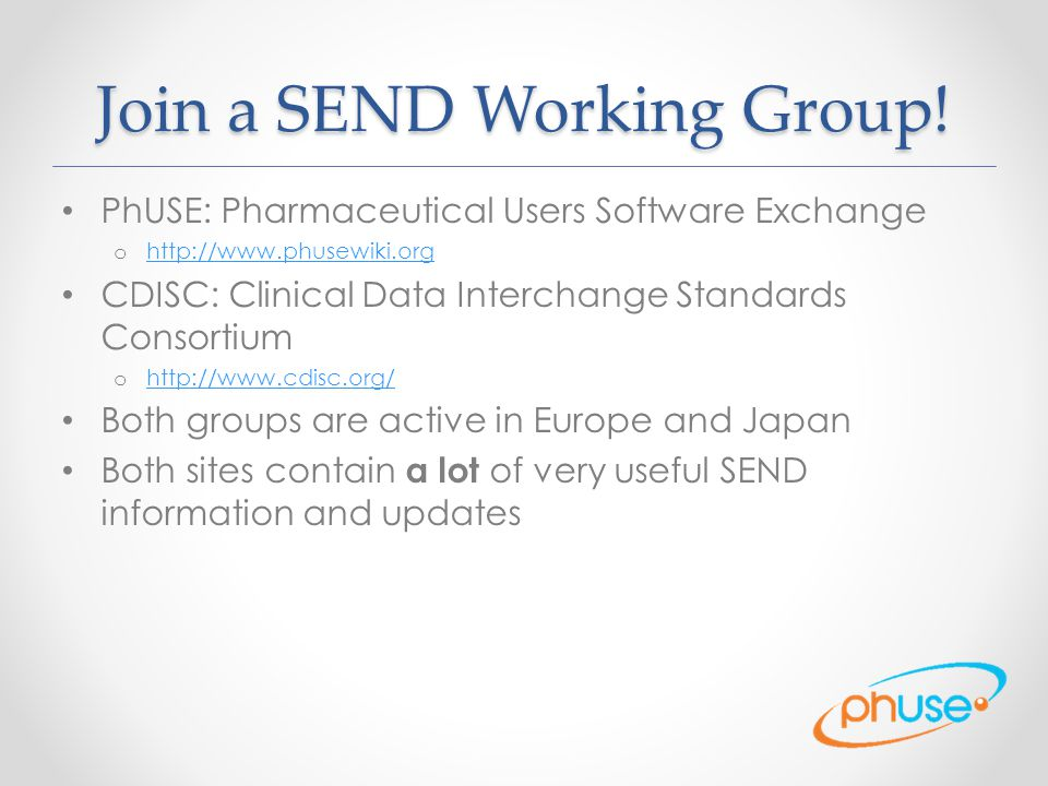 Join a SEND Working Group!