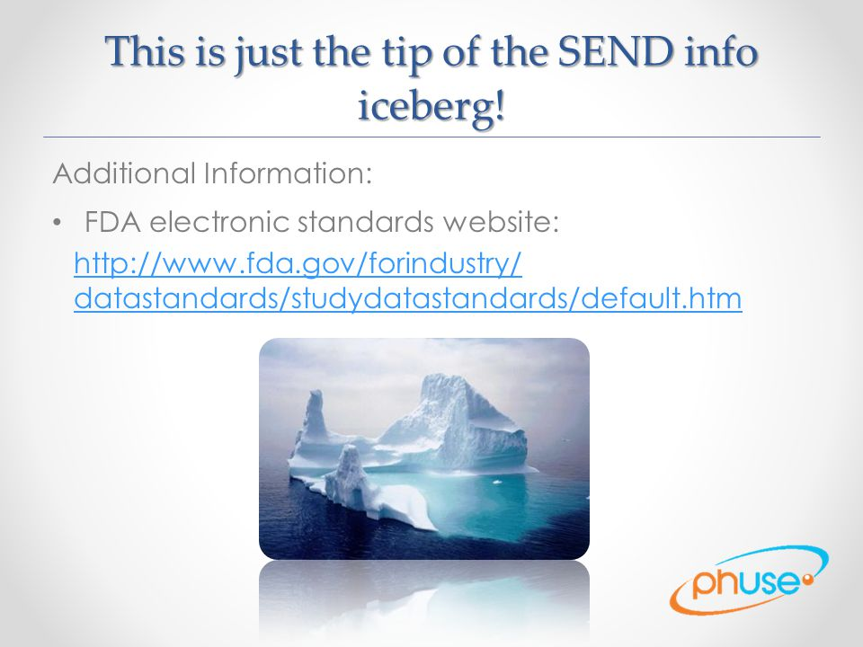 This is just the tip of the SEND info iceberg!