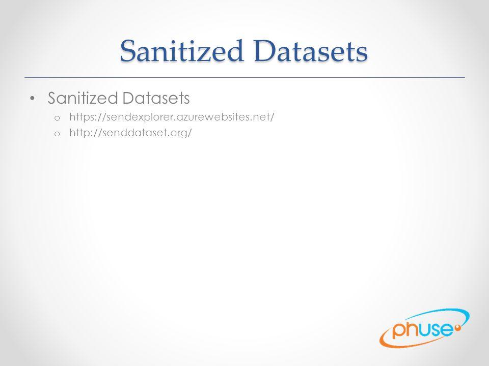 Sanitized Datasets Sanitized Datasets