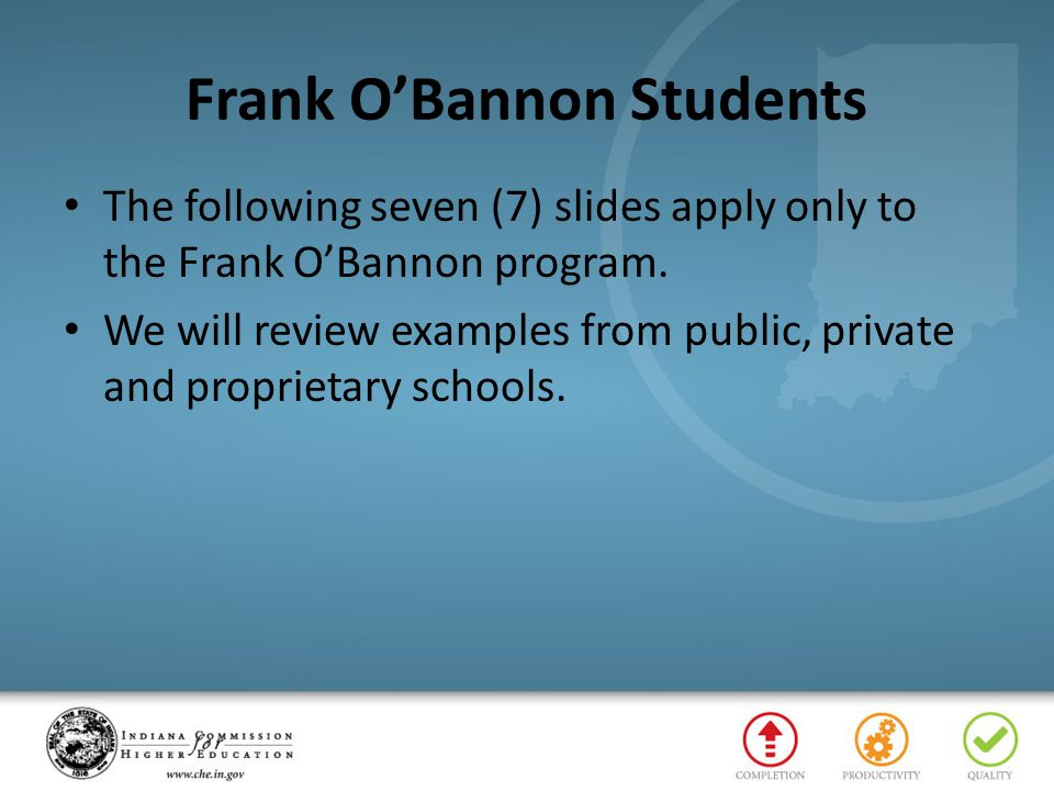 Frank O'Bannon Students