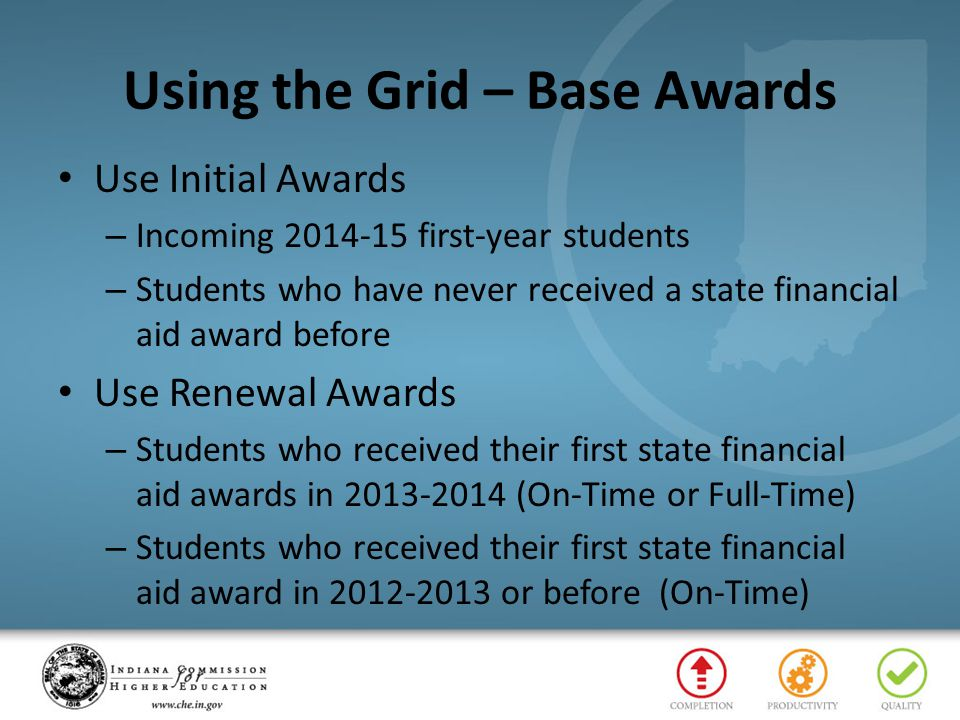 Using the Grid – Base Awards