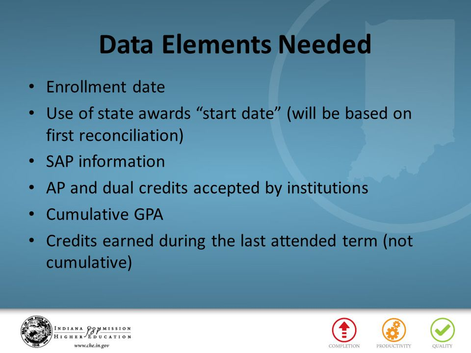 Data Elements Needed Enrollment date