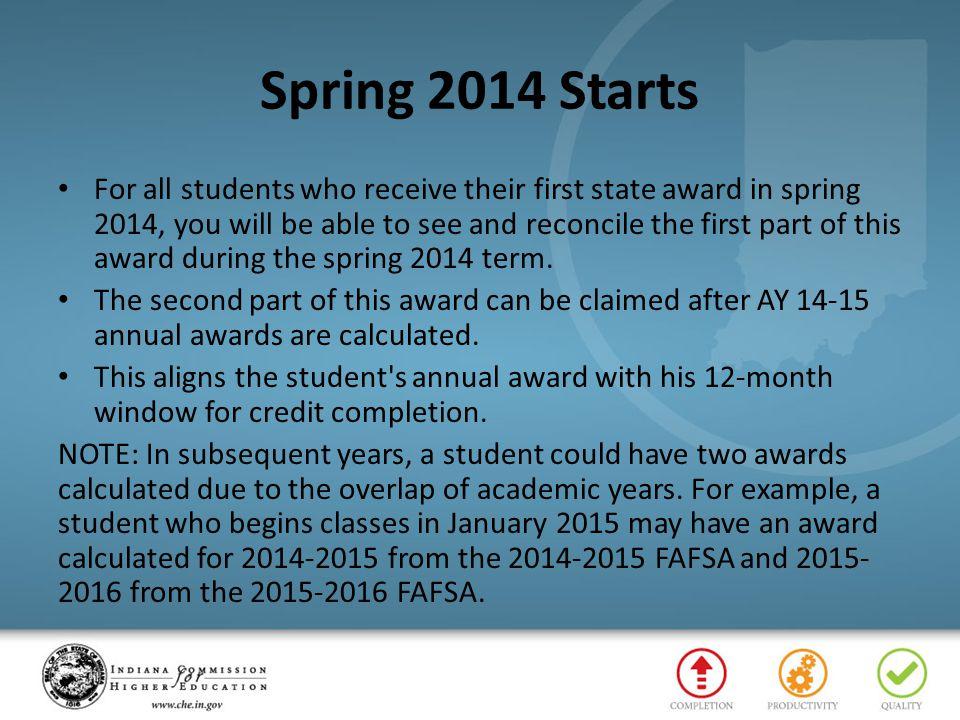 Spring 2014 Starts