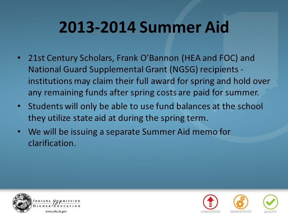 2013-2014 Summer Aid