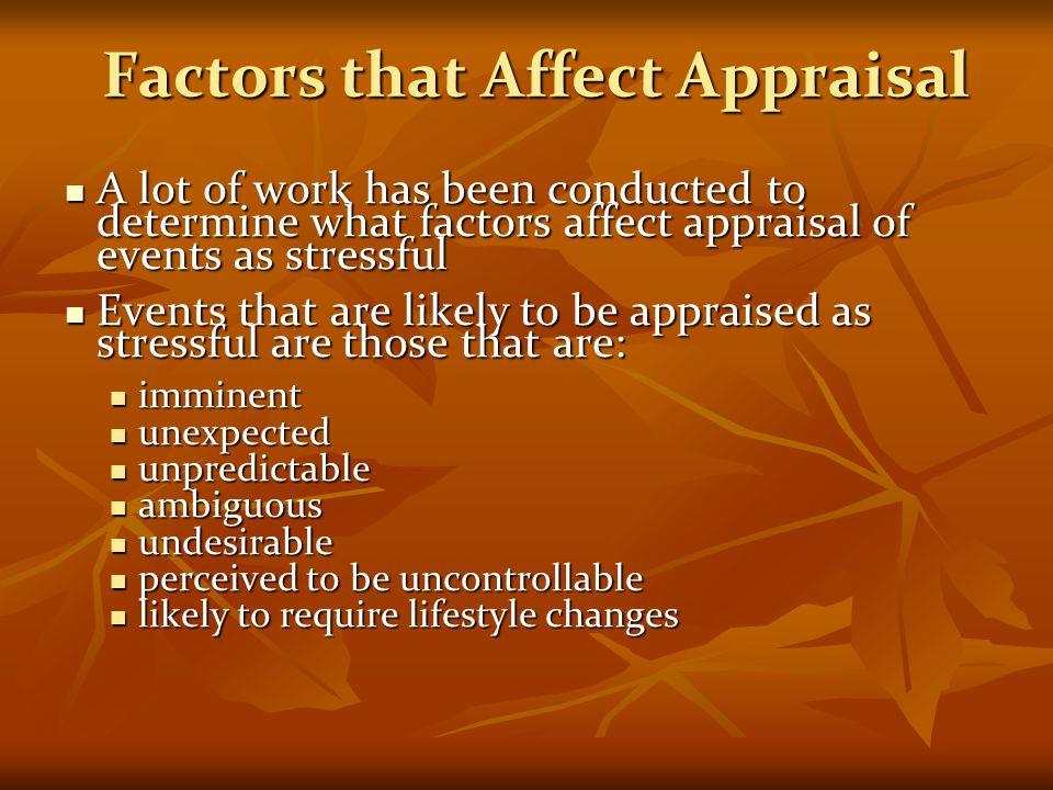 Factors that Affect Appraisal