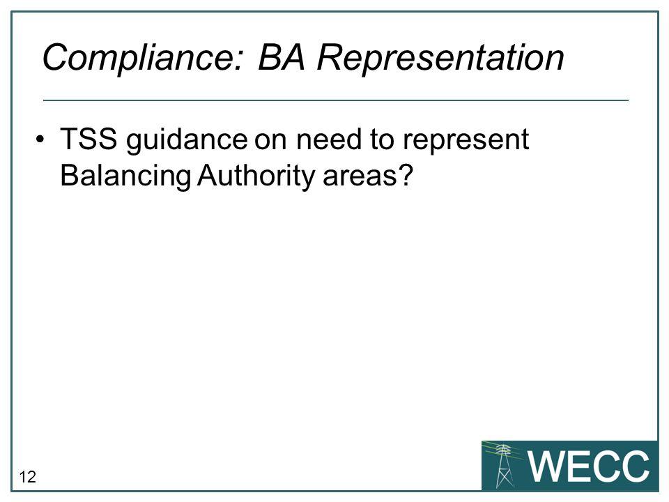 Compliance: BA Representation