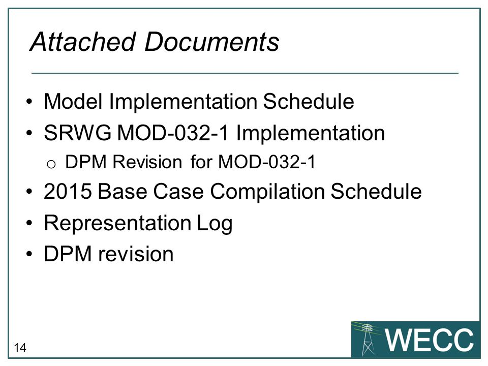 Attached Documents Model Implementation Schedule