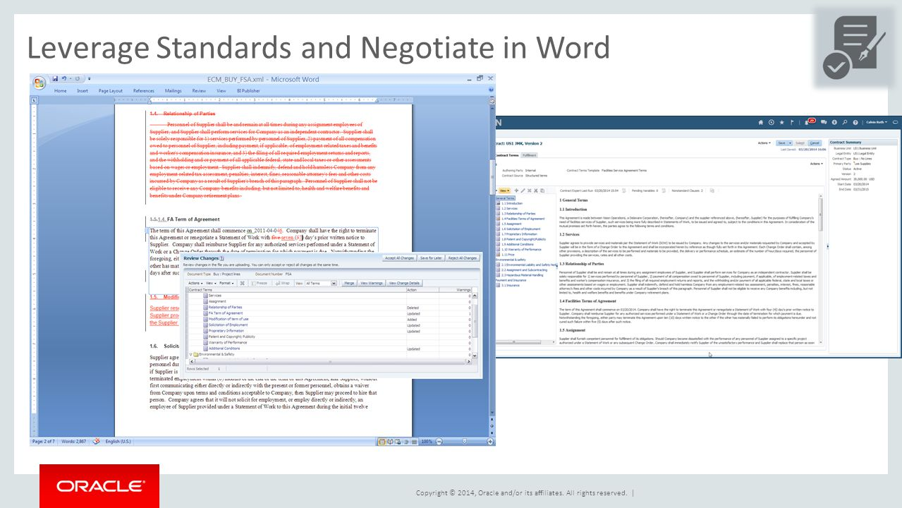 Leverage Standards and Negotiate in Word