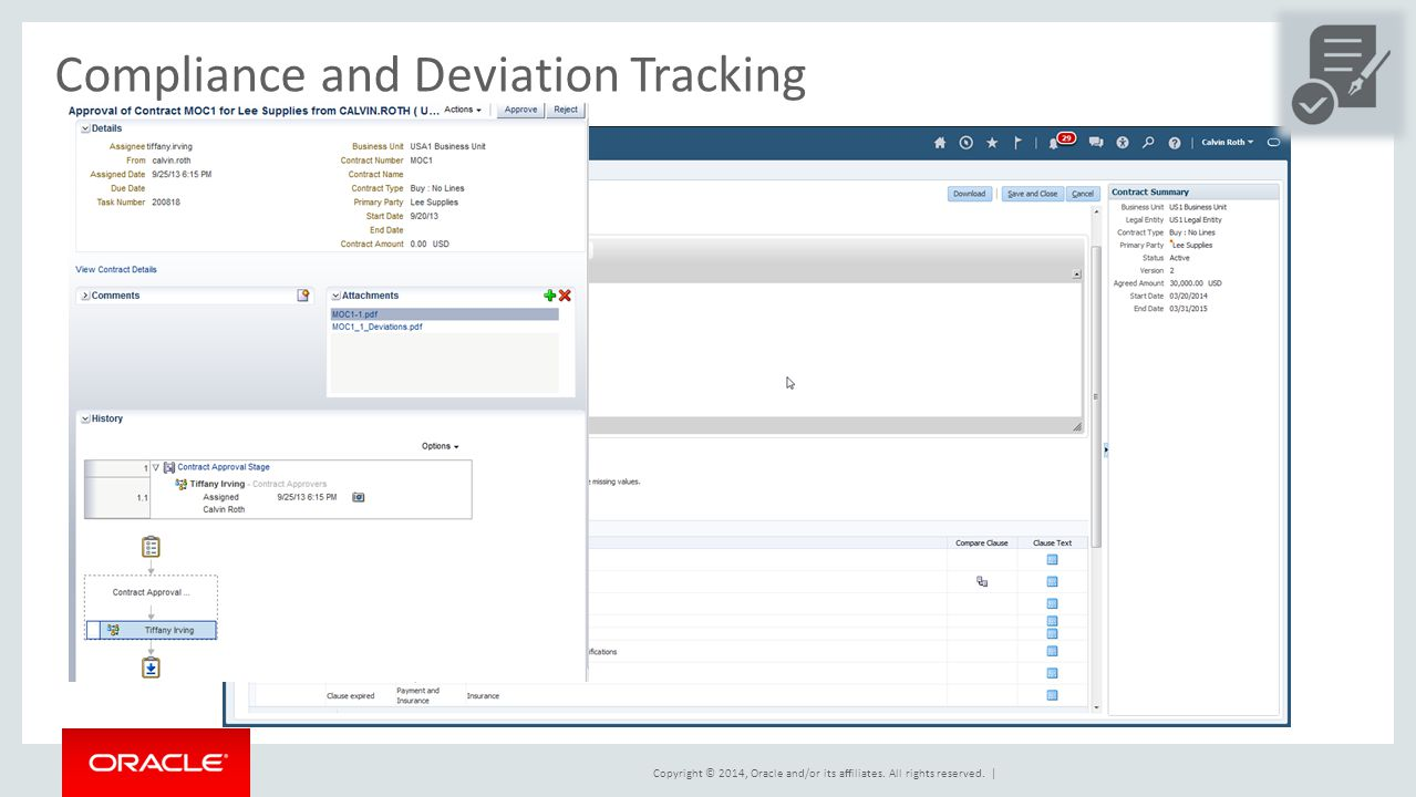 Compliance and Deviation Tracking